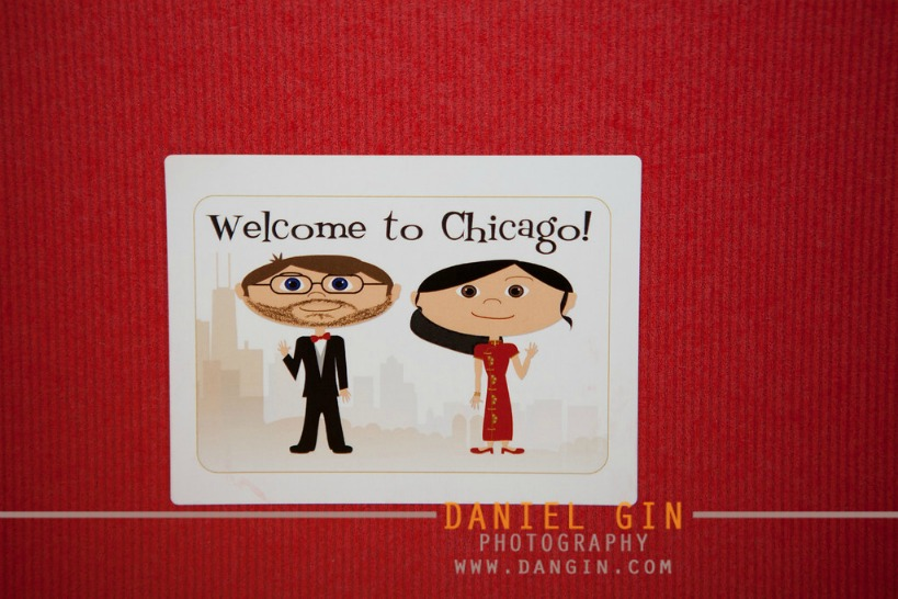 3 Morton Arboretum wedding Dan Gin Photography Sweetchic Events cute welcome letter cartoon