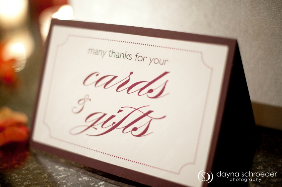 31 Westin River North chicago wedding sweetchic events dayna schroeder cards gifts signage