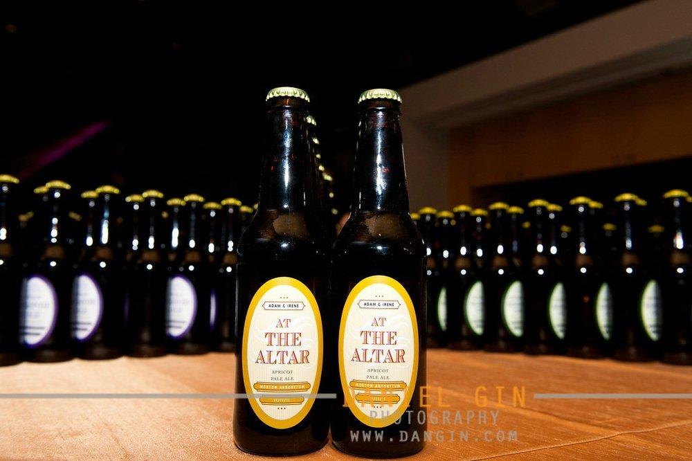 33 Morton Arboretum wedding Dan Gin photography Sweetchic Events custom beer bottle favors