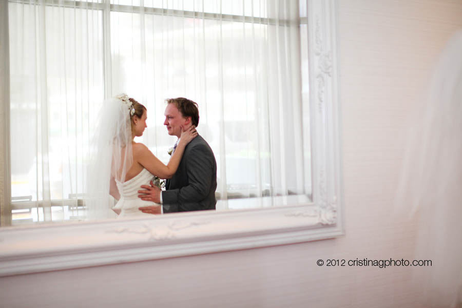 4 Kitchen Chicago Wedding Cristina G Photography Sweetchic Events First Look Bride and Groom