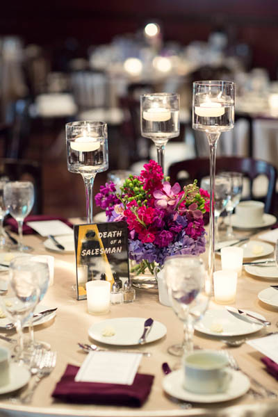 40. Alicia & Kris. Newberry Library Wedding. iLuvPhoto. Sweetchic Events. Fluer. Hydrangea, Lilac Centerpiece