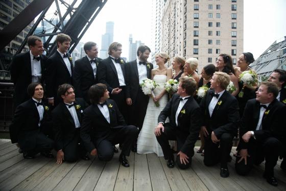5 Sweetchic Brian Kinyon chicago Rookery wedding Kinzie Street Bridge