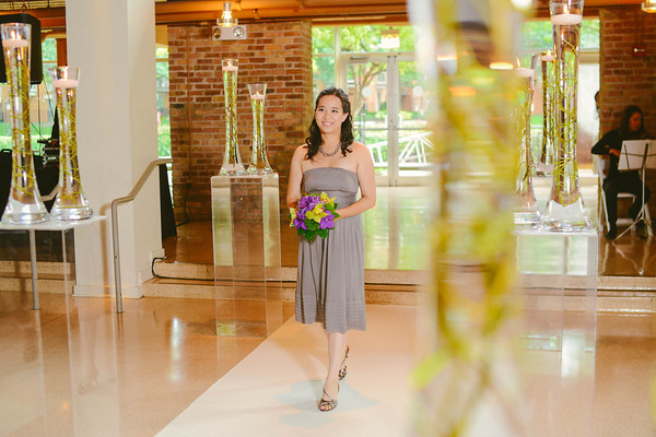 6. Karen.Boris.River East Art Center. Fragola Productions. Sweetchic Events. Bridesmaids Entrance.
