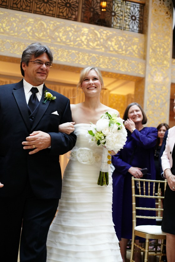 8 Sweetchic Brian Kinyon chicago Rookery wedding ceremony