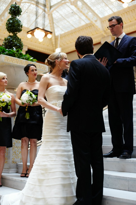 9 Sweetchic Brian Kinyon chicago Rookery wedding ceremony