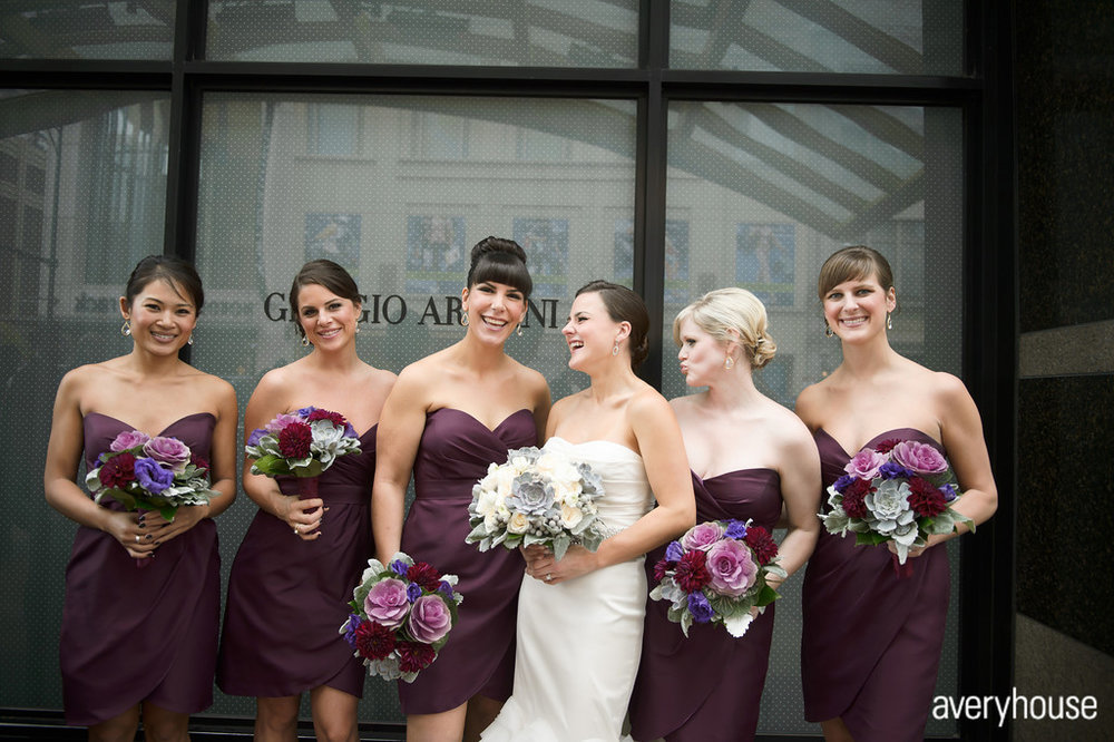9. The Ivy Room. Avery House. Sweetchic Events. Bridesmaids. Purple Dresses.
