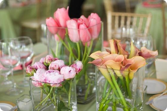 A Bryan Photo calla lilly peony tulip tablescape