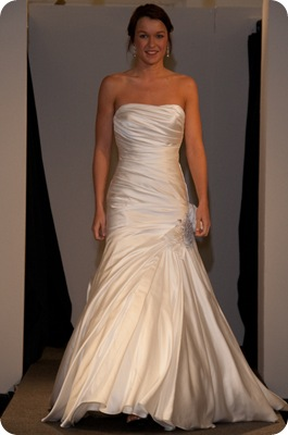 Allure satin ruched gown