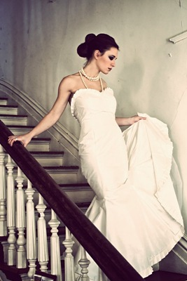 Amanda Archer ruffled mermaid wedding dress