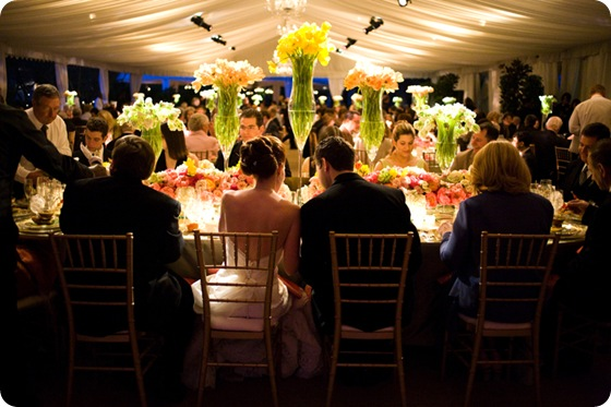 Amazing head table floral centerpieces vibrant3