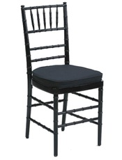 BlackChiavari chair cushion