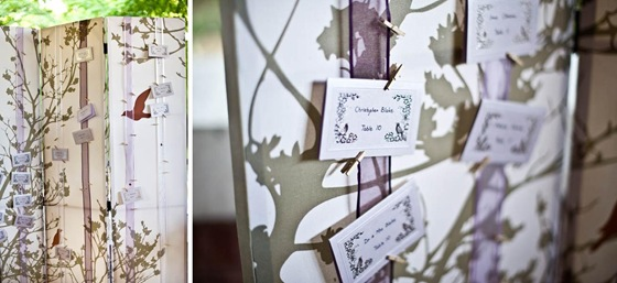 Cafe Brauer Chicago wedding escort card folding screen Yazy Jo Sweetchic Events