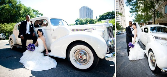 Chin Stephen vintage car chicago wedding