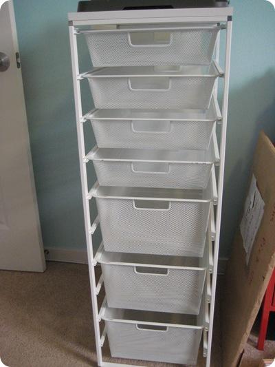 Elfa storage system
