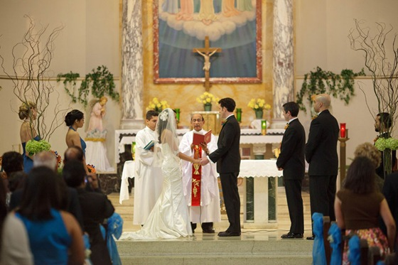 Holy Innocents Church Chicago wedding ceremony 3