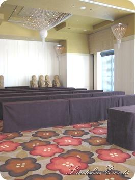 Hotel Palomar Chicago Ballroom meeting set up