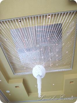 Hotel Palomar Chicago ballroom chandelier