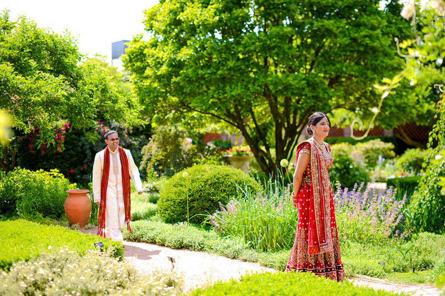 Indian Wedding. Botanic Gardens Wedding. Fragola Productions. Sweetchic Events. First Look