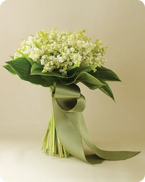 Lily of the valley white wedding bouquet  Source