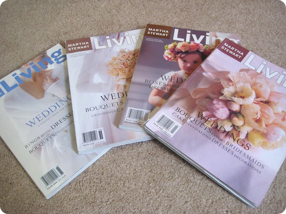 Martha Stewart Living Weddings old mags