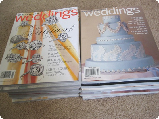 Martha Stewart Weddings mags