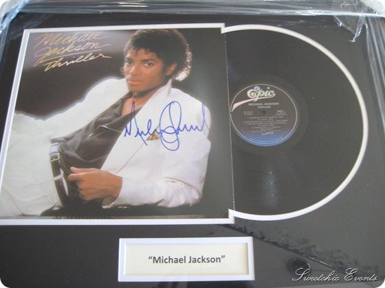 Michael Jackson autographed Thriller Album