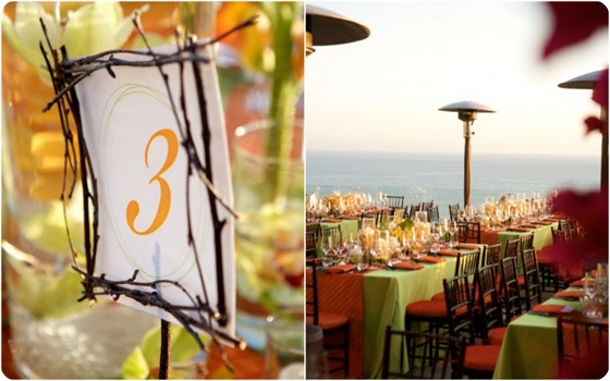 Orange green tablescape 2