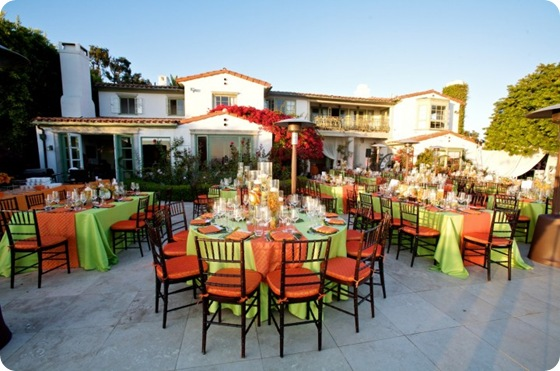 Orange green tablescape