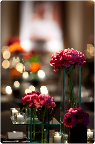 Pink fuchsia chocolate tablescape peonies roses daisies Artstar Photo 2