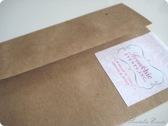 Sweetchic envelope w.label wrap