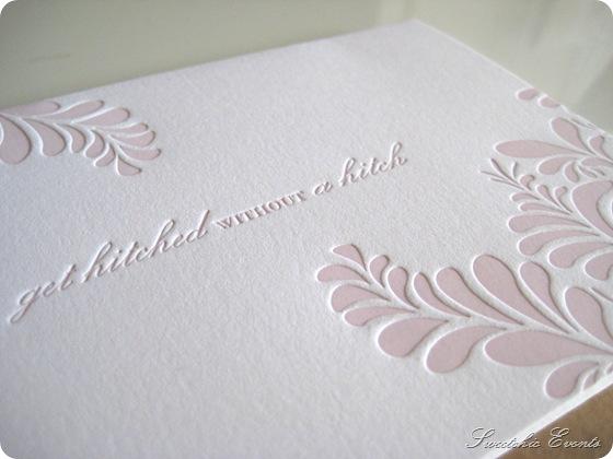 Sweetchic letterpress notecard closeup