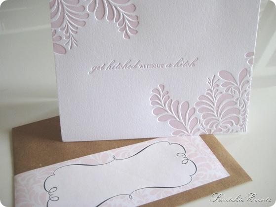 Sweetchic letterpress notecard w.envelope wrap