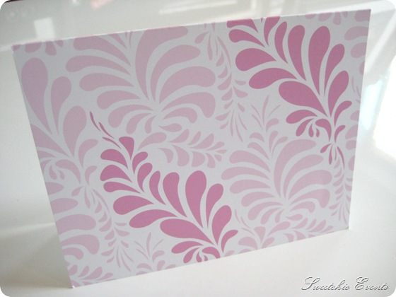 Sweetchic offset notecards