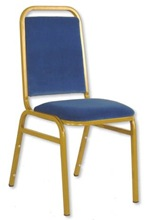 banquet chair blue gold