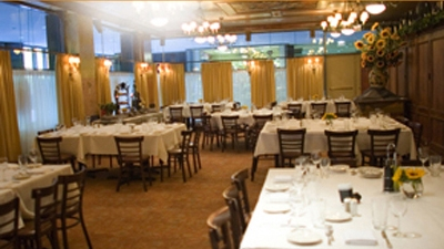 The private Palio room at Carlucci Rosemont