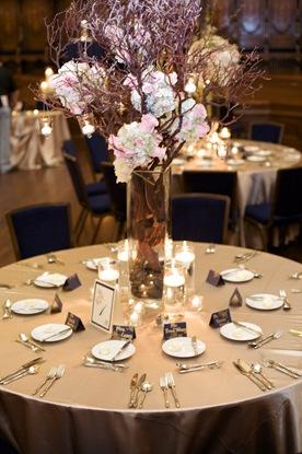 champagne linens manzanita centerpiece pink peonies roses hanging candles