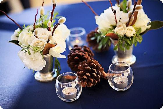 cocktail table arrangements mint julep cups white blooms