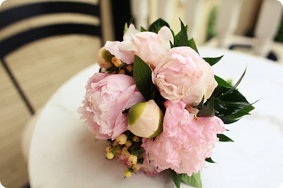 pink peony wedding bouquet  Source
