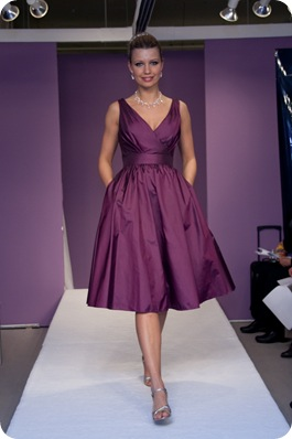 purple bm dress