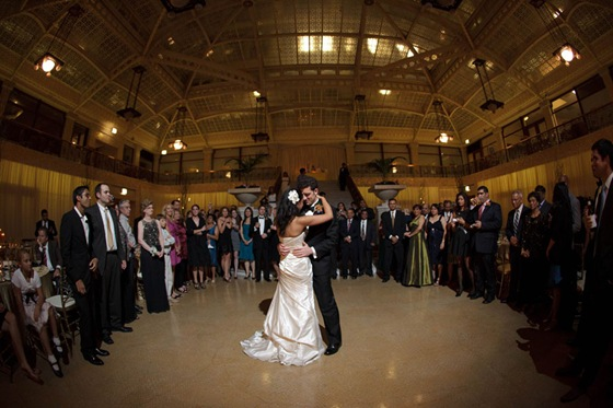rookery building wedding chicago first dance dean thorsen photograhy 2