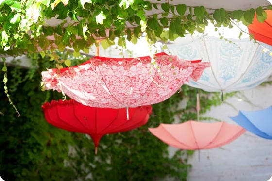 whimsical umbrella decor