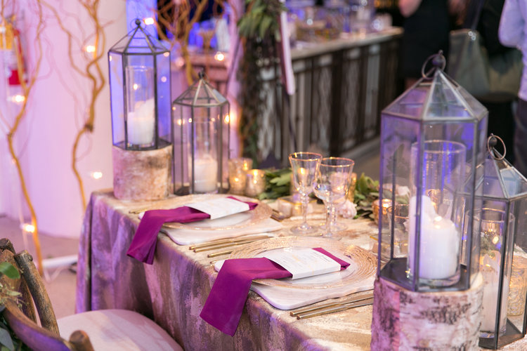 Glam rustic sweetheart table