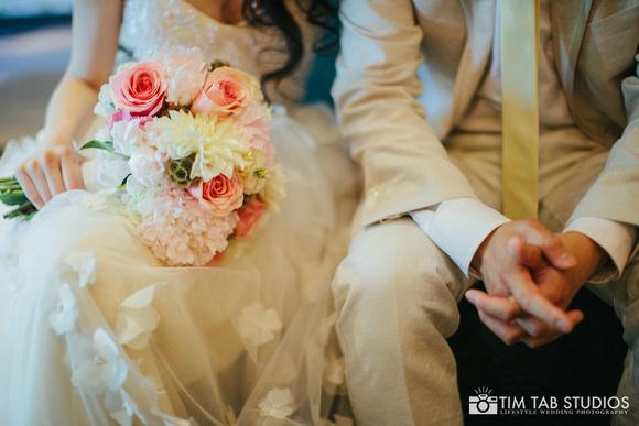 5. A New Leaf Wedding. Tim Tab Studios. Sweetchic Events. Intimate Garden Wedding. Blush Peach Ivory Bridal Bouquet. Peonies, Ranunculus, Dahlias..jpg