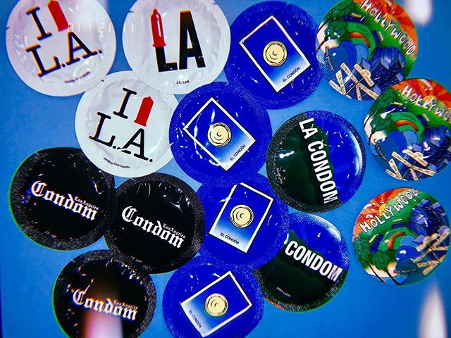Come get FREE LA themed condoms at the HEO in Tranquada! ✨😇 #safesexisgreatsex