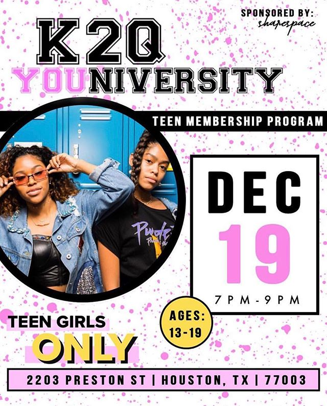 TOMORROW! TOMORROW! K2QU will be back in session. It's not too late to RSVP. 😍⠀⠀⠀⠀⠀⠀ There will be juicy/transparent girl chat, games, sweet treats, and tons of cool teens from across Houston! ⠀⠀⠀⠀⠀⠀⠀⠀⠀ ⠀⠀⠀⠀⠀⠀⠀⠀⠀ Become a member of K2QU just by showing up! We'll have all the information you need upon arrival. Click the link in our bio to RSVP! ⠀⠀⠀⠀⠀⠀⠀⠀⠀ ⠀⠀⠀⠀⠀⠀⠀⠀⠀ #generationz #support #cheerleader #highschool #highschoolfriends #houstontx #houston #kweentoqueen #artsy #creative #teengirls #teengirl #girls #girlpower #teenvogue #seventeen #sixteen #teen #kweenspiration #blogger #fun #inspiration #queen #empower #tuesday #happytuesday #tuesdaythoughts #womenempowerment #changetheworld #K2QU