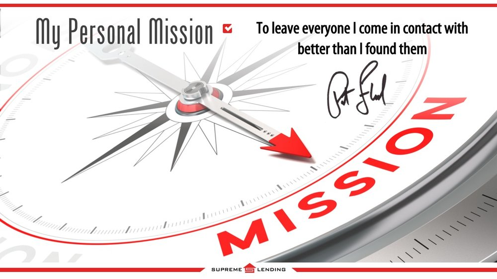 Pat's personal mission statement. Click the image above to download the entire slide deck from today's P&PB call.