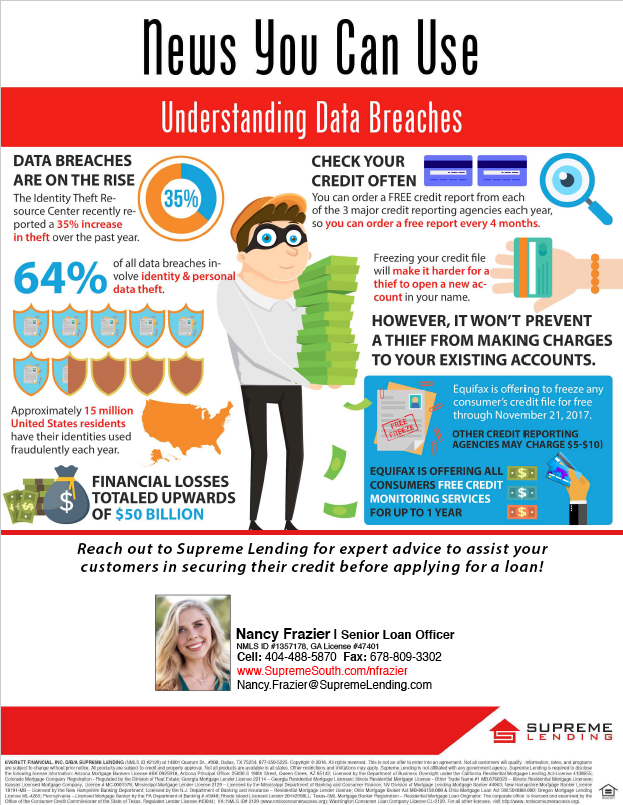 Flyer Option #1: General Data Breach Flyer with scaled infographic.