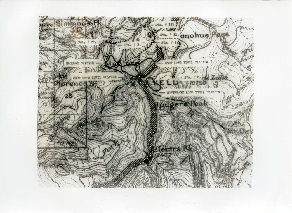 Yosemite Glacier Map