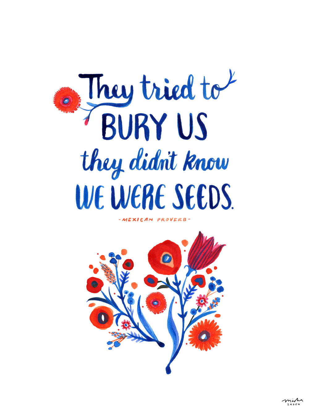 """Bury Us"" by Misha Zadeh, comissioned by the Amplifier Project for the Women's March, 2017"
