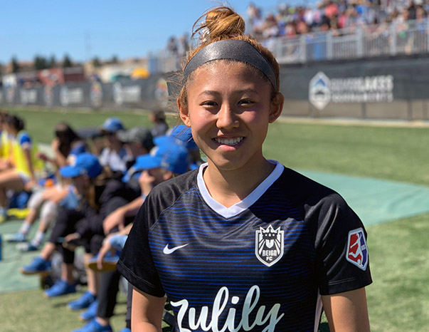 Reign Academy's Sakky Yoshida joined Reign FC in 2019 for the 2019 pre-season.